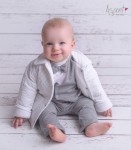 Quilted baby boy jacket Staś WHITE