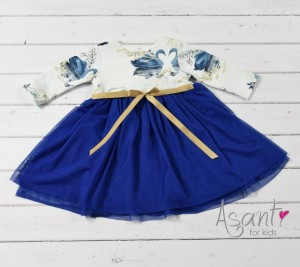 Cotton baby girl dress Swan