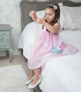 Chiffon flowergirl/christening dress Iga PINK