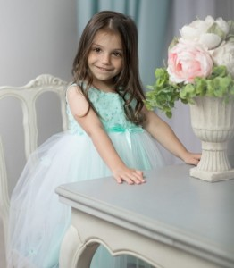 Flowergirl dress / Christening dress Karina MINT