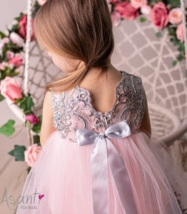 Tulle baby girl dress Royal APRICOT