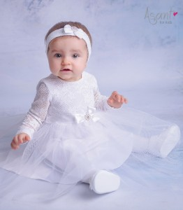 Christening dress with long sleeves Blanka