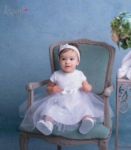 Christening dress with short sleeves Blanka