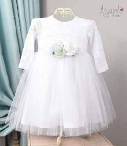 White christening gown with long sleeves Zosia