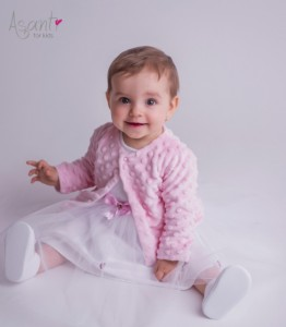 Minky christening bolero LIGHT PINK