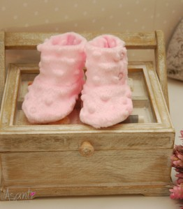Minky baby shoes