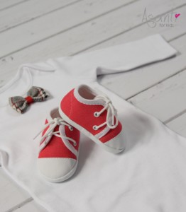 Baby boy christening shoes RED