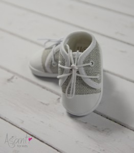 Baby boy christening shoes GREY