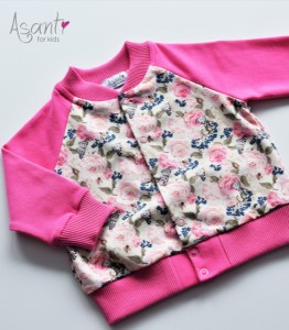 Baby girl cotton bomber jacket Nela PINK