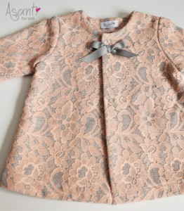 Lace baby girl coat