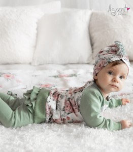Cotton baby girl tunic Roses