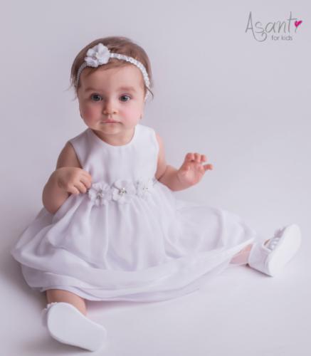 2f70777506 Sukienka do chrztu Iga BIAŁA Asanti For Kids